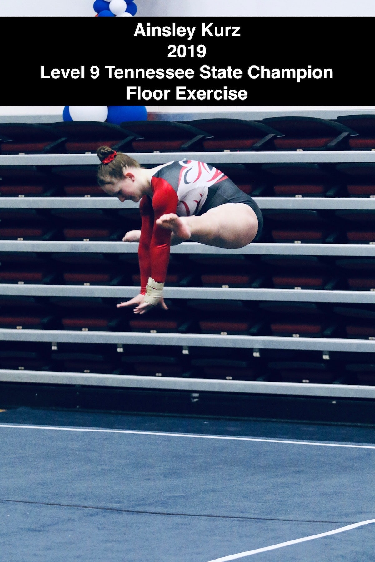 Ainsley Kurz 2019 Level 9 Tennessee State Champion Floor Exercise