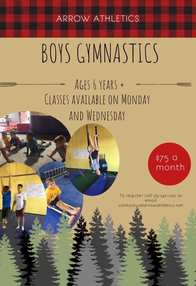 Boys Gymnastics Arrow Athletics Jackson TN