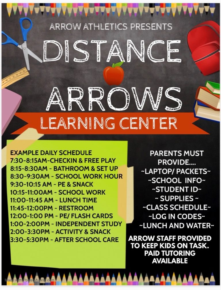 distance arrows learning center